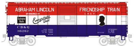 Friendship Train CB&Q Boxcar 36262